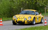 Vintage yarış araba Alp renault a 110 1972 — Stok fotoğraf