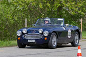 Vintage race touring car Austin Healey MKII Monte Carlo from 1958 — Stock Photo