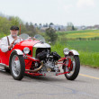 Vintage tricycle race car MorgSuper Sport from 1933 — Stok Fotoğraf #17026953