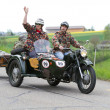 Stock Photo: Vintage sidecar motorbike