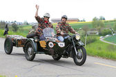 Vintage sidecar motorbike — Stock Photo