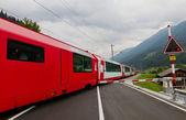 Glacier express train, Switzerland — Stockfoto