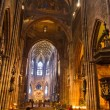Interior of church Freiburg Muenster, Germany — Stock Photo