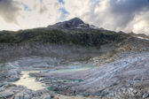 Melting Rhone glacier, Switzerland — Stock Photo