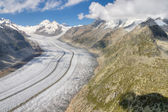Aletsch glacier, Switzerland — Stock Photo
