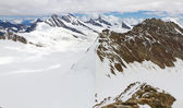 Gebergte, uitzicht vanaf mount moench, zwitserland — Stockfoto