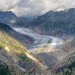 Great Aletsch Glacier valley — Stock Photo #25758341