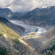 Stock Photo: Great Aletsch Glacier valley