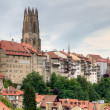 Old town of Fribourg, Switzerland — Stock Photo