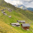Huts at Belalp. Switzerland — Stock Photo
