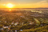 Mandalay seen from hill at sunset, Burma — Stock Photo