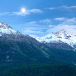 Alpine mountains in a monlit night — Stock Photo #6581547