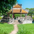 Stock Photo: Pagodinside purple forbidden city in Hue, Vietnam