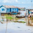 Stock Photo: Floating villages, Cambodia
