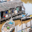 Stock Photo: Floating villages on Tonle Sap Lake, Cambodia