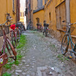 Bicycles on town street — Stock Photo #17635319