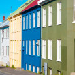 Stock Photo: Colorful houses, Reykjavik, Iceland
