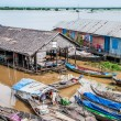 Tonle Sap, Cambodi- floating village — Stock Photo #17637589