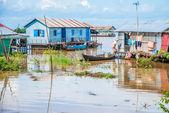 Floating villages, Cambodia — Stock Photo
