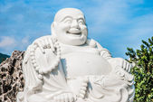 Fat laughing Buddha — Stock Photo