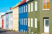 Colorful houses, Reykjavik, Iceland — Photo