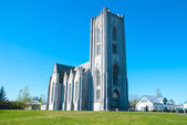 Catholic cathedral of Iceland, Reykjavik. — Foto de Stock