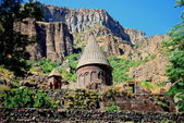Old UNESCO Monastery of Geghard in Armenia — Stock Photo