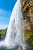 Seljalandsfoss, waterfall in Iceland — Stock Photo