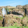 Scenery of Seljalandsfoss, waterfall in Iceland — Stock Photo