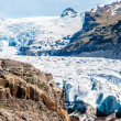 Glacier in mountains, Iceland — Stock fotografie
