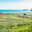 Vik City and Reynisdrangar, Iceland — Stock Photo
