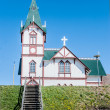 Typical icelandic church, Husavik, Iceland — Stock Photo