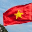 Vietnamese flag on blue sky, Vietnam — Stock Photo #17645061