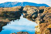 Thingvellir, tectonic plates meeting point, Iceland — Stock Photo
