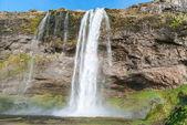 Seljalandsfoss,beautiful waterfall in Iceland — Stock Photo