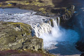 Hafragilsfoss w pobliżu dettifoss, wodospad w islandii — Zdjęcie stockowe
