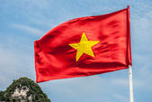 Vietnamese flag on the blue sky, Vietnam — Stock Photo