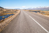 Road on the Iceland landscape — Stock Photo