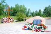 Monument of accident victims in Smolensk, Russia — Stock Photo