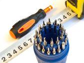 Tournevis outils affecter closeup — Photo
