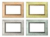 Conjunto de molduras vazias de cor isolado — Foto Stock