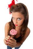 Don't take my lollipop — Stock Photo