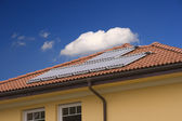 Solar cell on the roof — Stock Photo
