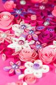 Kolorowy papier, quilling kwiaty — Zdjęcie stockowe