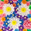 Colorful paper quilling flowers — Stock Photo