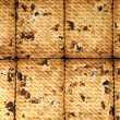 Stock Photo: Close up of delicious raisin cookies background