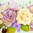 Stock Photo: Closeup of pastel paper bouquet of flowers