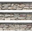 Royalty-Free Stock Photo: Stone fence panorama, panoramic stonewall, isolated limestone