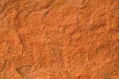 Tijolo vermelho textura macro closeup, velho grunge áspero detalhada textu — Foto Stock