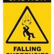 Caution Falling Currencies Warning Sign Isolated Macro — Stock Photo